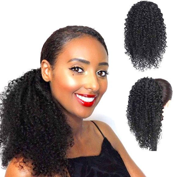 Curly Ponytail Extension for Black Women Kinky Cur